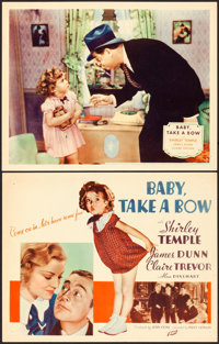 "Baby Take a Bow (Fox, 1934). Title Lobby Card & Lobby Card (11"" X 14""). ... (Total: 2 Items)"