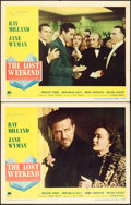 "Movie Posters:Academy Award Winners, The Lost Weekend (Paramount, 1945). Autographed Lobby Cards (2)(11"" X 14"").. ... (Total: 2 Items)"