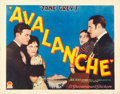 "Movie Posters:Western, Avalanche (Paramount, 1928). Half Sheet (22"" X 28"") Style A.. ..."