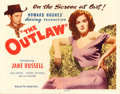 "Movie Posters:Western, The Outlaw (United Artists, 1946). Half Sheet (22"" X 28"").. ..."