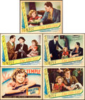 "Movie Posters:Drama, Our Little Girl (Fox, 1935). Title Lobby Card, Autographed LobbyCard, & Lobby Cards (3) (11"" X 14"").. ... (Total: 5 Items)"