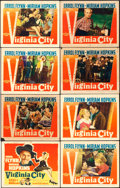 "Movie Posters:Western, Virginia City (Warner Brothers, R-1942). Lobby Card Set of 8 (11"" X14"").. ... (Total: 8 Items)"