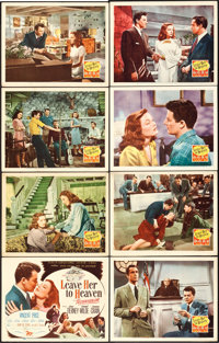 """Leave Her to Heaven (20th Century Fox, 1945). Lobby Card Set of 8 (11"""" X 14""""). ... (Total: 8 Items)"""