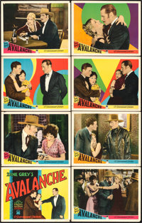 """Avalanche (Paramount, 1928). Lobby Card Set of 8 (11"""" X 14""""). ... (Total: 8 Items)"""