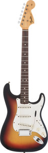 Musical Instruments:Electric Guitars, 1967 Fender Stratocaster Sunburst Solid Body Electric Guitar, #207873....
