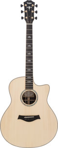 Musical Instruments:Acoustic Guitars, 2014 Taylor Custom Grand Orchestra Natural Acoustic Guitar,#1105124076....