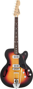 Musical Instruments:Electric Guitars, Circa 1970s Galanti Sunburst Hollow Body Electric Guitar, #8142....