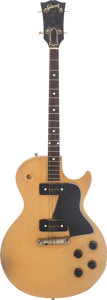 Musical Instruments:Electric Guitars, 1956 Gibson Les Paul TV Tenor TV Yellow Solid Body Electric Guitar,#6 5322....