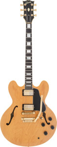 Musical Instruments:Electric Guitars, 1985 Gibson ES-347 TD Natural Semi-Hollow Body Electric Guitar, #83035559....