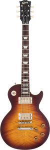 Musical Instruments:Electric Guitars, Gibson Les Paul Sunburst Solid Body Electric Guitar, #93558....