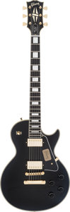 Musical Instruments:Electric Guitars, 2013 Gibson Les Paul Black Solid Body Electric Guitar, #7 3506....