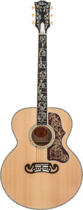 Musical Instruments:Acoustic Guitars, 2004 Gibson J-200 Vine Natural Acoustic Guitar, #03484012....