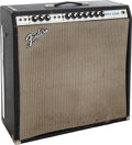 Musical Instruments:Amplifiers, PA, & Effects, 1973 Fender Super Reverb Black Guitar Amplifier, #A 56428....