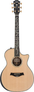 Musical Instruments:Acoustic Guitars, 2013 Taylor PS14CE Natural Acoustic Guitar, #1104253125....