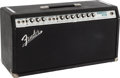 Musical Instruments:Amplifiers, PA, & Effects, Circa 1970s Fender Bandmaster Reverb Black Guitar Amplifier,#A50922....