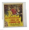 "Movie Posters:Adventure, Jungle Jim In the Forbidden Land (Columbia, 1951). Window Card (14""X 22""). Jungle Jim takes a lady anthropologist through a..."