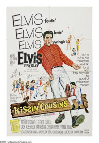 "Kissin' Cousins (MGM, 1964). One Sheet (27"" X 41""). Air Force officer Josh Morgan (Elvis Presley) is sent to g..."