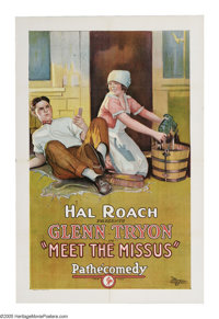 """Meet the Missus (Pathe', 1925). One Sheet (27"""" X 41""""). Stone lithograph from the comical 1929 Hal Roach produc..."""