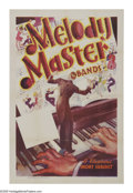 "Movie Posters:Short Subject, Melody Master Bands (Warner Brothers, 1936). One Sheet (27"" X 41"").In the '30s, Warner Brothers released shorts of well-kno..."