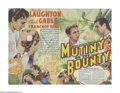 """Movie Posters:Drama, Mutiny On The Bounty (MGM, 1935). Herald (9"""" X 9""""). """"I'll live to see you -- all of you -- hung from the highest yardarm in ..."""