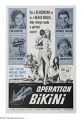 """Movie Posters:War, Operation Bikini (AIP, 1963). One Sheet (27"""" X 41""""). This wartimedrama starring Tab Hunter and Frankie Avalon blends seriou..."""