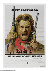 """The Outlaw Josey Wales (Warner Brothers, 1976). One Sheet (27"""" X 41""""). Clint Eastwood directs this film from a..."""