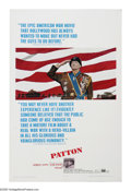"Movie Posters:War, Patton (20th Century Fox, 1970). One Sheet (27"" X 41""). ""God, how Ihate the twentieth century."" George C. Scott, in his Osc..."