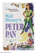"Movie Posters:Animated, Peter Pan (Buena Vista, R-1976). One Sheet (27"" X 41""). A lovely print from Disney's landmark animated film based on J.M. Ba..."