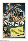 """Movie Posters:Mystery, River Gang (Universal, 1945). One Sheet (27"""" X 41""""). Gloria Jean isWendy, the niece of lovable Uncle Bill (John Qualen), a ..."""