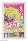 "Movie Posters:Children's, Santa Claus (K. Gordon Murray Productions Inc., R-1974). One Sheet(27"" X 41""). ""Away up in the heavens, far out in space, i..."