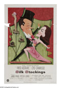 """Movie Posters:Musical, Silk Stockings (MGM, 1957). One Sheet (27"""" X 41""""). The musical remake of """"Ninotchka"""" stars Fred Astaire and Cyd Charisse as ..."""