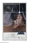 """Movie Posters:Science Fiction, Star Wars (Movie Poster) (20th Century Fox, 1977). One Sheet (27"""" X41"""") The epic first adventure of George Lucas' farm boy ..."""