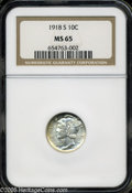 "Mercury Dimes: , 1918-S 10C MS65 NGC. The current Coin Dealer Newsletter (Greysheet)wholesale ""bid"" price is $500.00...."