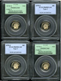 Proof Roosevelt Dimes: , (4) 1979-S 10C Type Two PR 69 Deep Cameo PCGS.... (Total: 4 Coins)