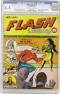 Golden Age (1938-1955):Superhero, Flash Comics #1 (DC, 1940) CGC FN+ 6.5 Cream to off-white pages....