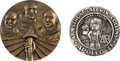 Explorers:Space Exploration, Apollo 11 Medals: Collection of Two Large, in High Relief. ...(Total: 2 Items)