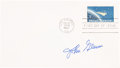 "Explorers:Space Exploration, John Glenn Signed ""Project Mercury"" 4¢ Stamp First Day Cover. ..."
