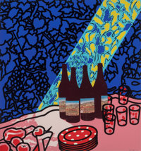 Patrick Caulfield (1936-2005) Picnic Set, 1978 Screenprint in colors on wove paper 36 x 33-3/4 in