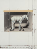 Prints & Multiples, Christo (b. 1935). Wrapped Horse, Project for Neo-Dada, Wrapped Musée D'art Moderne de la Ville de Paris, 1963-89. Scree...