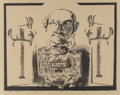 Fine Art - Work on Paper:Print, Harvey Breverman (b. 1934). High Priest with Scepters, n.d.. Lithograph and screenprint on Arches brown paper, with full...