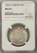 1854-O 50C Arrows MS62+ NGC. NGC Census: (46/120 and 0/2+). PCGS Population: (56/155 and 0/4+). Mintage 5,240,000. ...(P...