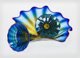 Dale Chihuly (American, b. 1941) Three-Piece Lyons Blue Seaform Group with Red Lips Wraps, 1994 Blown glass 7-1/2 x 1...
