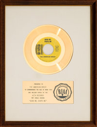 """American Breed """"Bend Me, Shape Me"""" RIAA White Matte Gold Sales Award Presented to the Artist (Acta 45-811, 196..."""