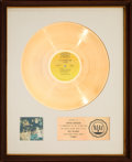 Music Memorabilia:Awards, Sly and the Family Stone Stand! RIAA White Matte Gold SalesAward Presented to Cynthia Robinson (Epic BN 26456, 19...