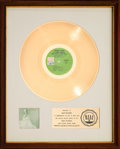 Music Memorabilia:Awards, Herb Alpert's Tijuana Brass Whipped Cream & OtherDelights RIAA White Matte Gold Sales Award (A&M SP-4110,1965)....