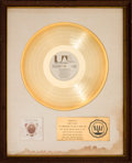 Music Memorabilia:Awards, Nitty Gritty Dirt Band Will the Circle be Unbroken RIAAWhite Matte Gold Sales Award (United Artists UAS 9801, 197...