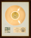 Music Memorabilia:Awards, Sly and the Family Stone Stand! RIAA White Matte Gold SalesAward Presented to Jerry Martini (Epic BN 26456, 1969)...