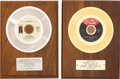 Music Memorabilia:Awards, Joe Tex / Jean Knight - Two In-House Record Sales Awards (Dial /Stax, 1967/71).... (Total: 2 Items)