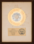 "Music Memorabilia:Awards, Blue Magic ""Sideshow"" RIAA White Matte Gold Sales Award (Atco45-6961, 1974)...."