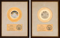 Music Memorabilia:Awards, 100 Proof (Aged in Soul) / Cornelius Brothers & Sister Rose -Two RIAA White Matte Gold Sales Awards (Hot Wax / United Artists...(Total: 2 Items)
